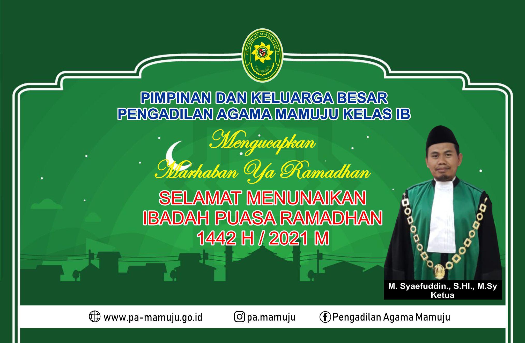 Ucapan Selamat Menunaikan Ibadah Puasa Ramadhan 1442 H 2021 M 13 4